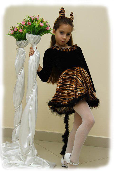 Костюм рыси для девочки