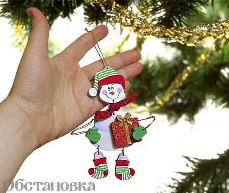 Для изготовления игрушки снеговик