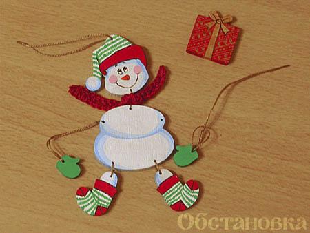Как сделать игрушки дед мороза и снегурочку