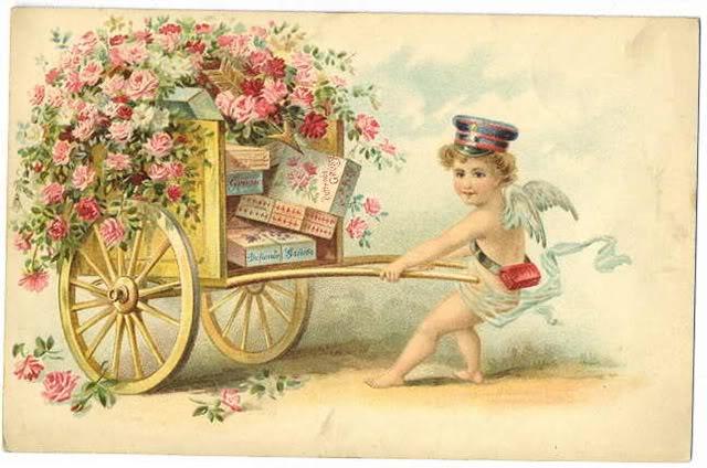 Винтажная открытка ко Дню Всех Влюбленных