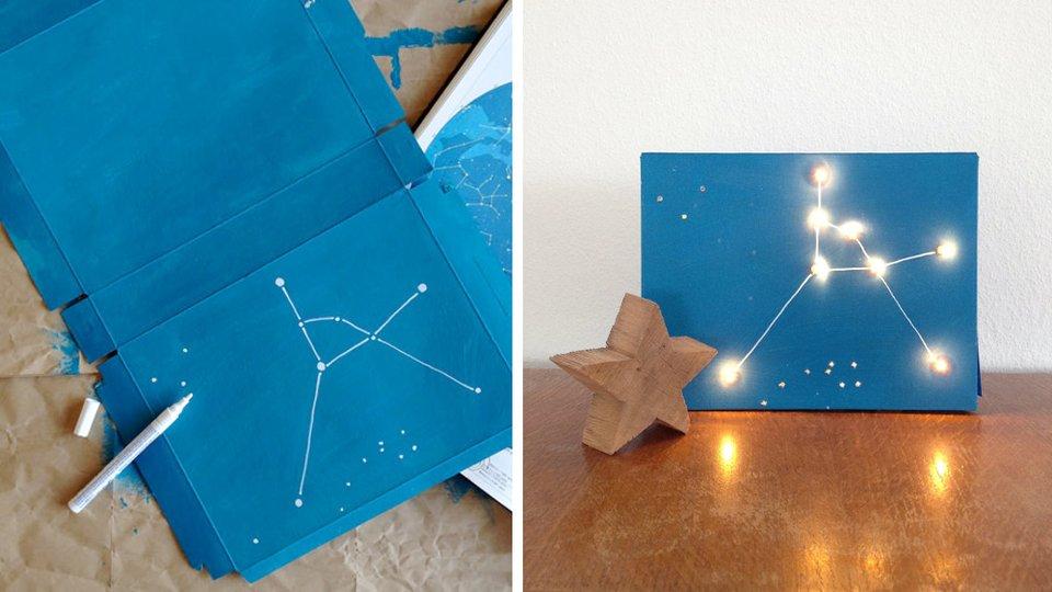 Созвездие из коробки под обуви