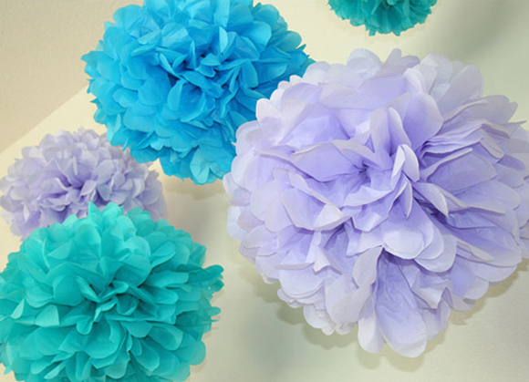 воздушные голубые цветы