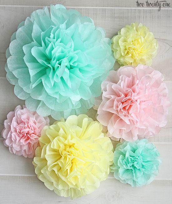 очень нежные цветы из бумаги