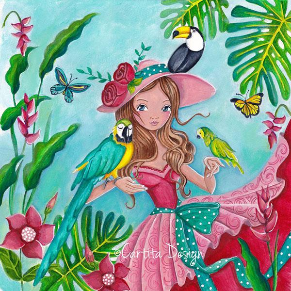 открытка для дня рождения девушки