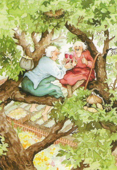 старушки на дереве