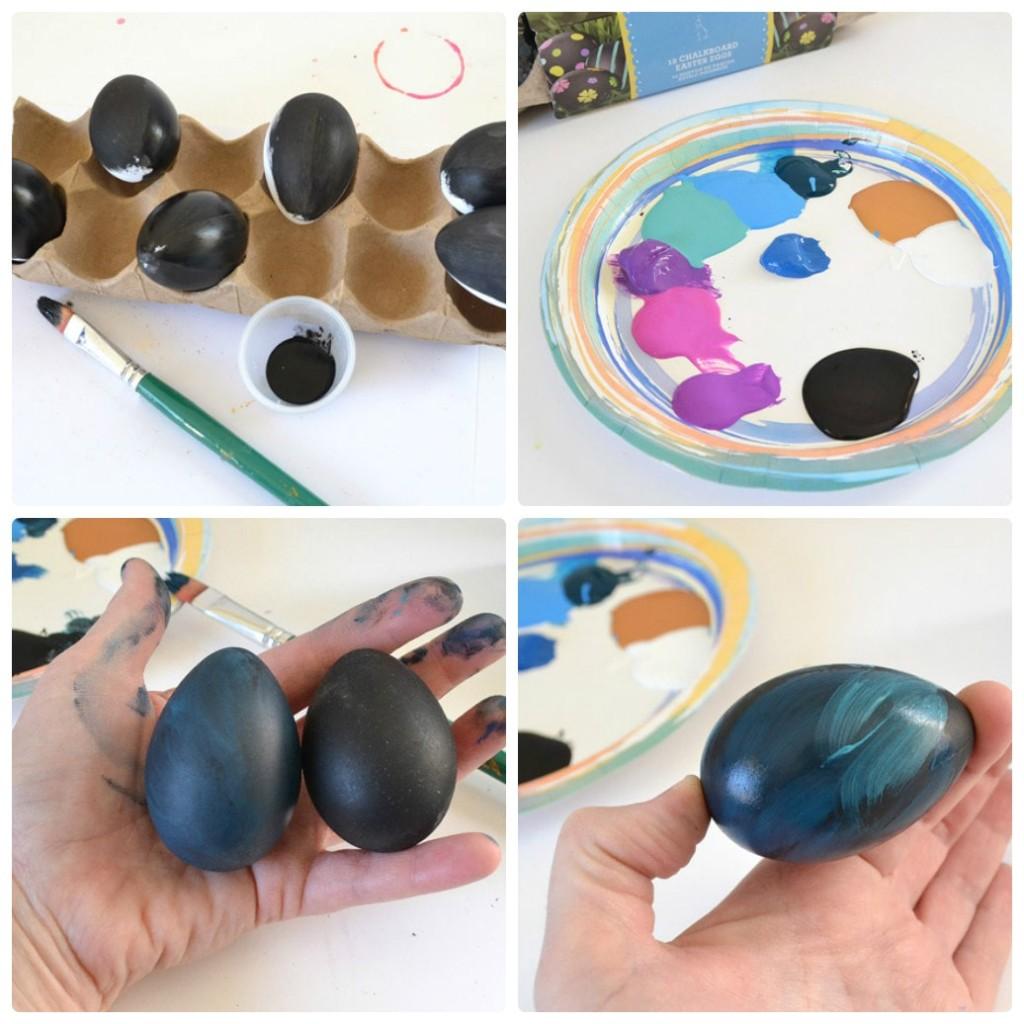 Фото покраски яиц акриловыми красками