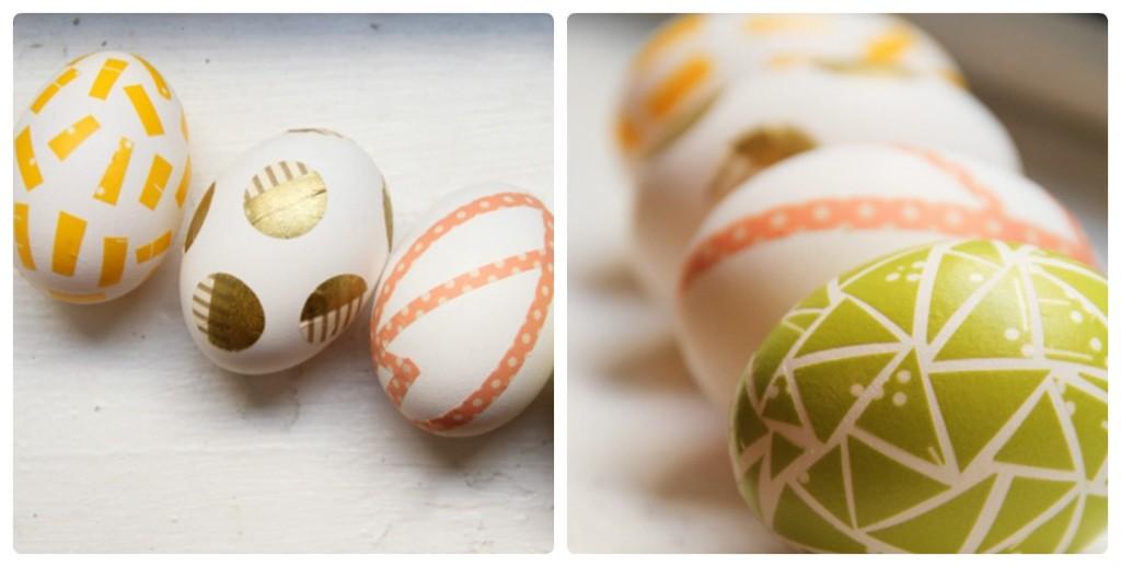 Пасхальные яйца из декоративной ленты