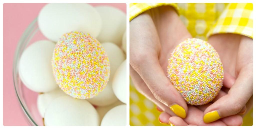 Яйца для Пасхи из сладкой присыпки