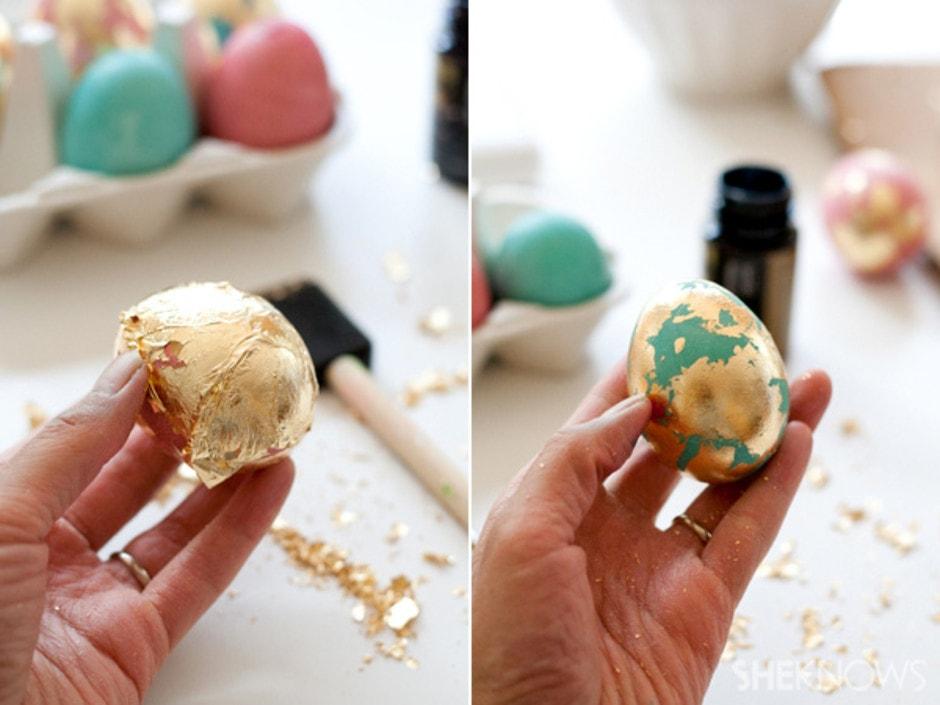 Позолоченные яйца на Пасху