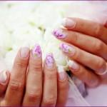Цветы на ногтях для невесты