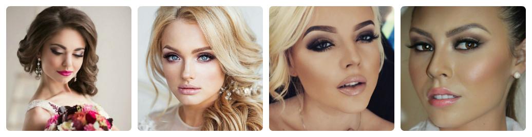 свадебный макияж 2016-2017 коллаж