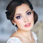 свадебный макияж на карие глаза