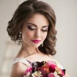 Очень красивая невеста, макияж