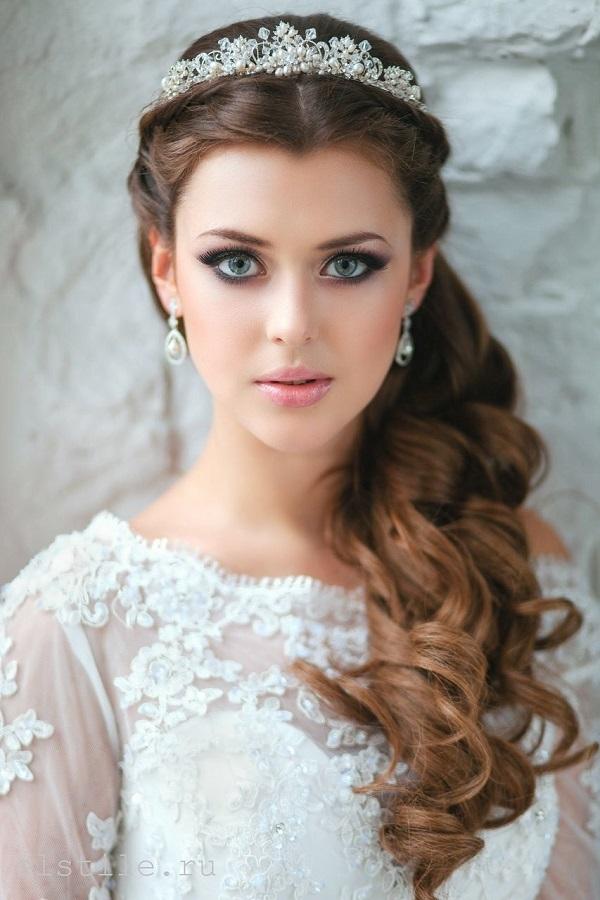 темный свадебный макияж