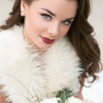 зимняя свадьба, макияж