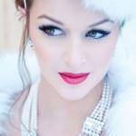 макияж для блондинки, зимняя свадьба