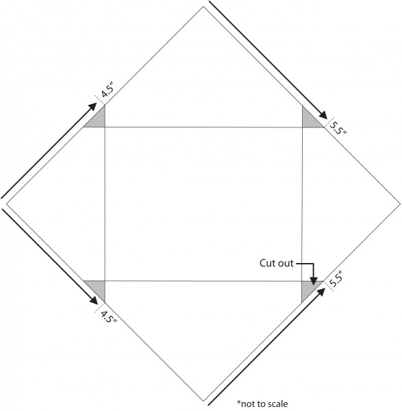 шаблон для изготовления конверта