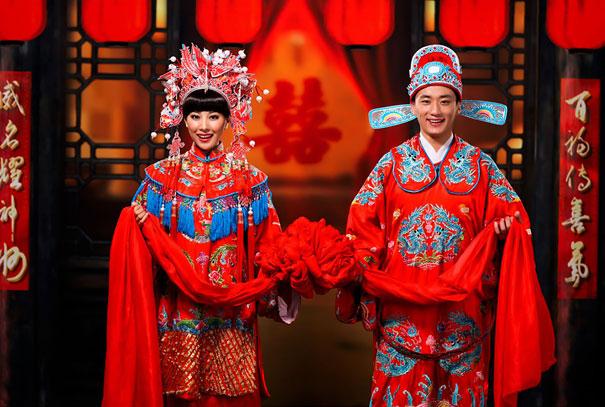 Красное кимоно на свадьбе