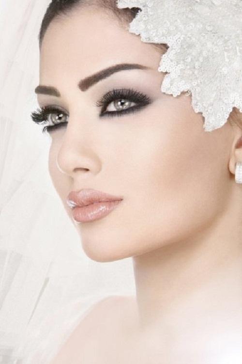 сильный акцент на глаза, макияж на свадьбу