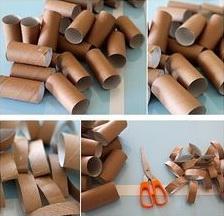 Рулоны туалетной бумаги и ножницы
