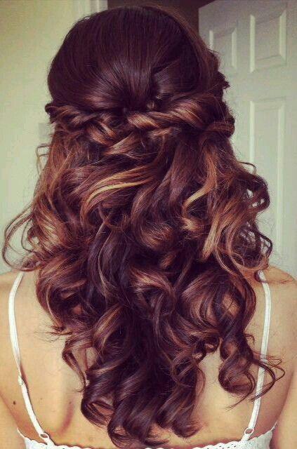Свадебная прическа на густые волосы