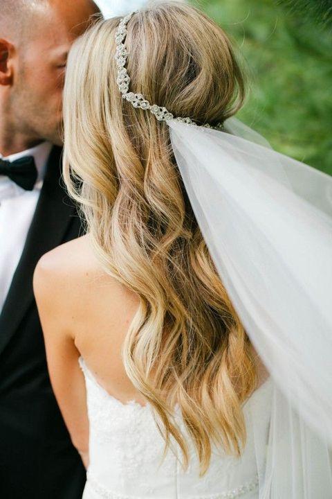 Прическа невесты и фата