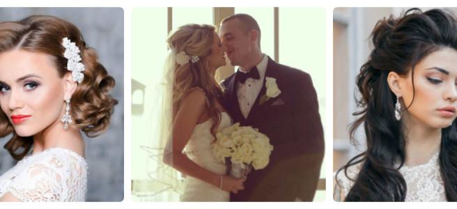 коллаж свадебных причесок