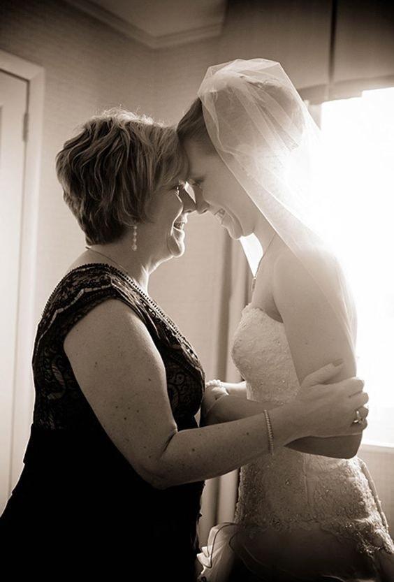 Трогательное свадебное фото
