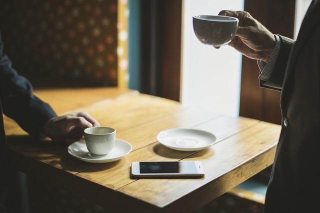 Бизнес, кофе, телефон