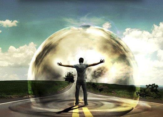 Человек в шаре