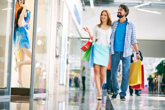 покупки в торговом центре