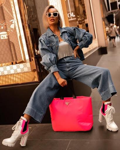 розовая сумка шоппер