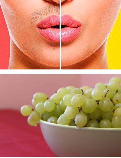 удаляем волосы виноградом