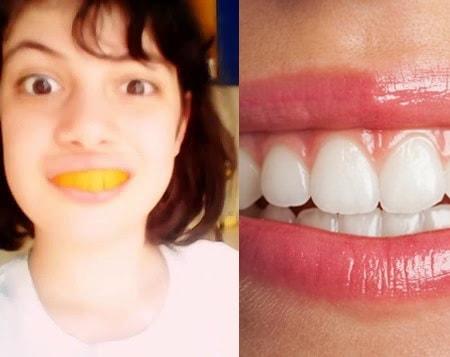 Отбеливание зубов апельсином