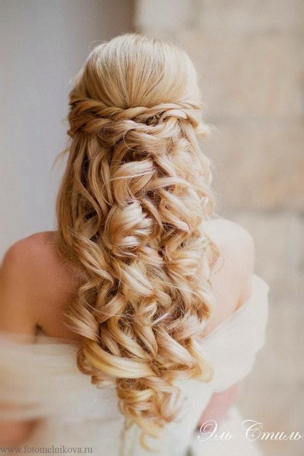Прическа для блондинки на свадьбу